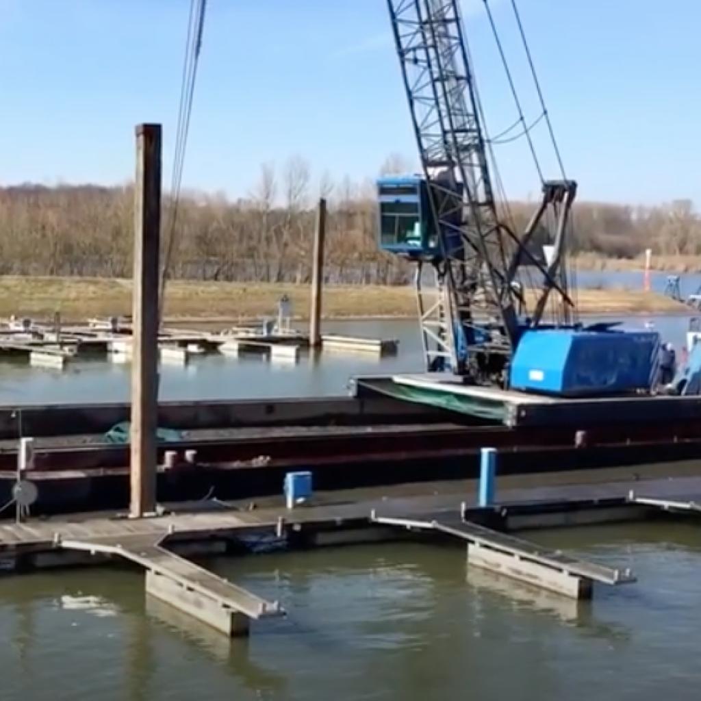 Ausbaggern Hafen 2018
